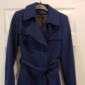 Ink blue trench